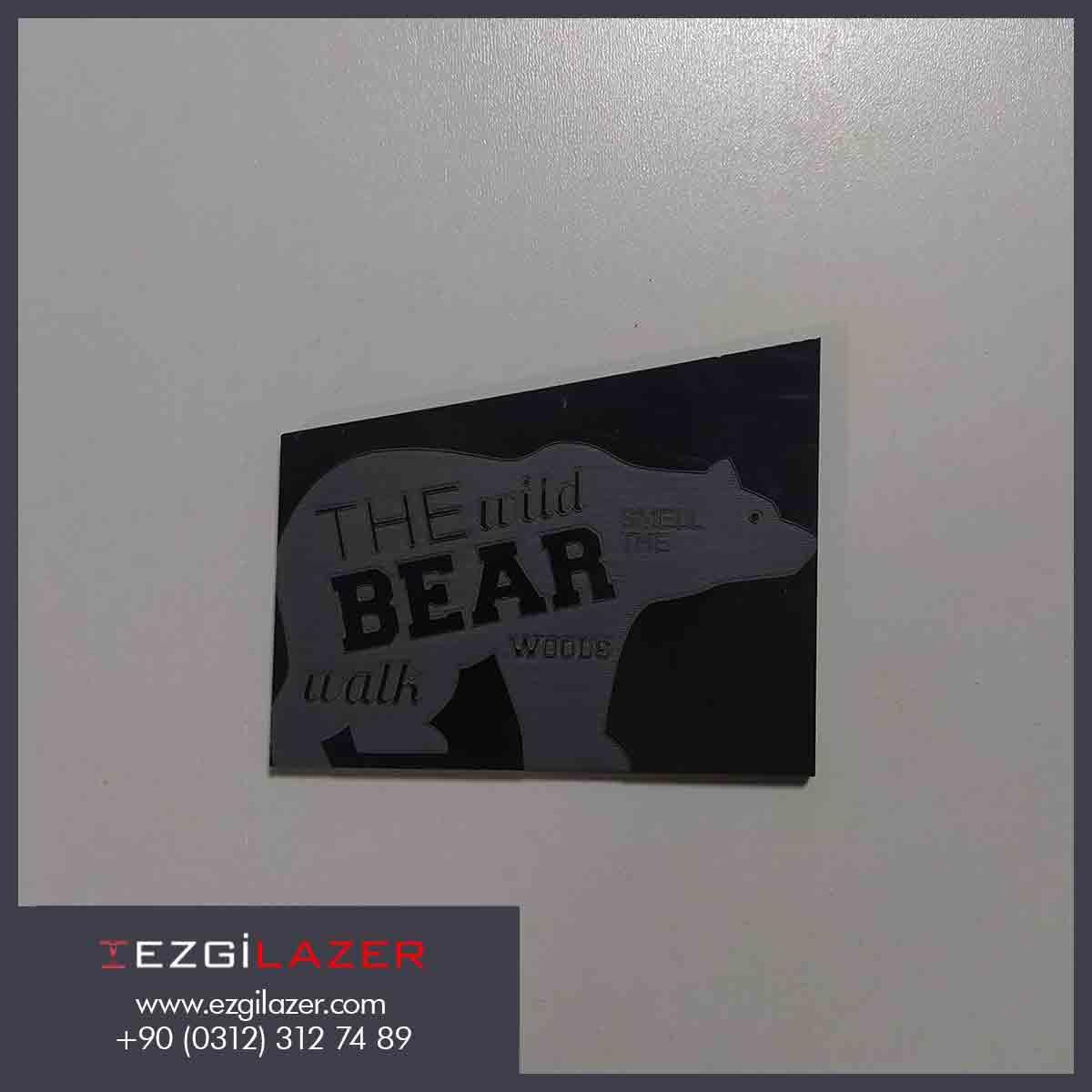 Galvo lazer markalama kutup ayısı